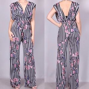 Pants - *Saturday Sale*Striped Loose Fitted Jumpsuit
